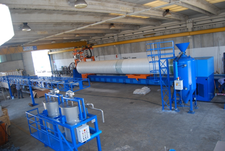 impianto filatrice + mixer resine + distribuzione fili