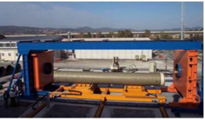 pressa idraulica per tubi prvf